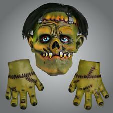 Frankenstein Halloween Latex Mask & Gloves Scary Halloween Mask Party Fancy