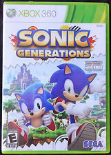 Sonic Generations (Microsoft XBOX 360, VGC , 3D PLAYABLE, FAST FREE POSTAGE)