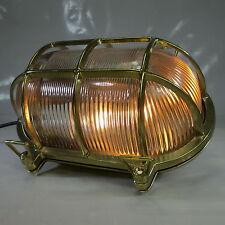 """XXXL SCHIFFSLAMPE """"SCHILDKRÖTE"""" 2,8kg MASCHINENRAUM LAMPE MESSING KAJÜTEN LAMPE"""