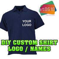 DIY Custom Shirt Logo Personalised - Polo Logos T-Shirts - Printed Company Name