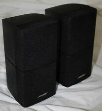 Pair Bose Double Cube Home Theater Speakers Lifestyle Acoustimass x 2
