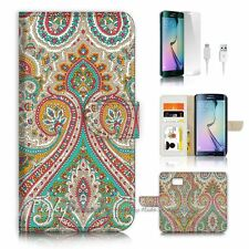 Samsung Galaxy ( S7 Edge ) Flip Wallet Case Cover P0023 India Damask