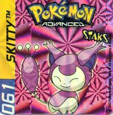 ≈Ω STAKS MAGNET POKEMON ADVANCED N° 061 SKITTY HOLO