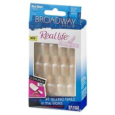 Broadway Nails Real Life Glue-On Nail Kit, Real Short Length, Peach 24 ea (7pk)