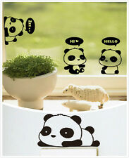 3Pcs Removable Panda Home Office Switch Socket Window Notebook Sticker Hot2015