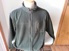 Horny Toad army green & gray full zip fleece jacket - mens medium