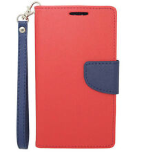 For LG G3 PU Leather Wallet Flip Case Cover Pouch with Card Holder & Strap