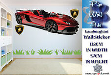 Lamborghini 3 in 1 wall sticker Children's bedroom Living room decor large.