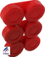 3 X Red Contact Lens Storage Cases -L+R Marked-
