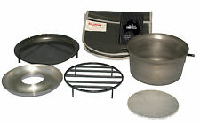 Hillbilly Blue Steel (spun) 12.5L Camp Oven KIT in canvas bag - Aussie Made