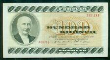 FAROE ISLANDS 100kr, 1967 crisp XF