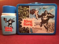 1977 King Kong Metal Lunch Box with Thermos - vintage