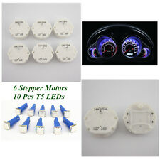 6 Pcs Stepper Motor Speedometer Instrument Cluster Repair + 10 Blue Light Bulbs