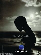 Publicité Advertising 1995 Parfum Sun Moon Star Par Lagerfeld