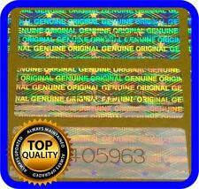 120 hologram labels with serial numbers, warranty seals stickers 30x10mm