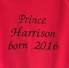 Personalised Name Baby Grow,Bodysuit,Onesie,Outfit Prince Born 2016 Newborn Gift