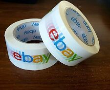 Lot of (2) two Official eBay Branded Packaging Tape - Shipping supplies