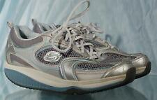 Nice Silver & Blue SKECHERS Lace-Up Shape-Ups Shoes US 8 UK 5 EUR 38 CM 25