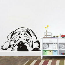 English Bulldog Vinyl Wall Sticker Cute Dog Wall Decal Art Mural For Home Decor