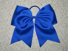 "NEW ""ROYAL BLUE"" Cheer Bow Pony Tail 3 Inch Ribbon Girls Hair Bows Cheerleading"