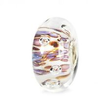 AUTHENTIC TROLLBEADS CRESTA DI BOLLE VIOLA 61482 PURPLE RIPPLING BUBBLES