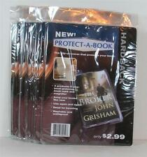 Lot of 12 PROTECT A BOOK Hardback Book Covers with FREE Hanger Strip NEW