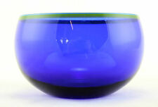 a Catti Aselius-Lidbeck bulls eye bowl for Gullaskruf. 1960's Blue Swedish glass