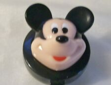 MICKEY MOUSE 3D Head Plastic ID Holder Badge Reel black disney yoyo work pull