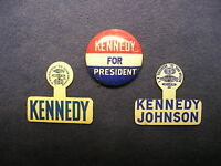 President John F. Kennedy Lyndon Johnson campaign button JFK LBJ 60 vintage pins