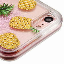 For iPhone 7 - Cute Pineapple Pink Stars Glitter Sparkle Liquid Water Skin Case