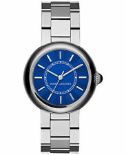 BRAND NEW MARC JACOBS MJ3467 DOTTY SILVER STAINLESS STEEL BLUE DIAL WOMENS WATCH