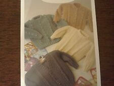 Child's aran Sweater and Cardigans size 20-26 inch chest  knitting patterns