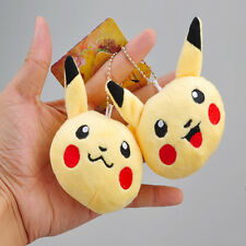 Yellow Cute Pokemon Pikachu Plush Dolls kawaii Stuffed Toys Bag Strap keychain
