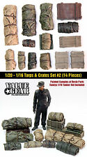 1/16 Scale Universal / Generic Tarp Rolls & Crates #2 (14 Pieces) resin models