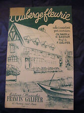 Partition L'auberge fleurie Francis Galifer 1947 Music Sheet