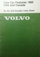 Volvo 240 260 New Car Features Manual1984 Diesel Gas Turbo 70pg Nice Info Repair