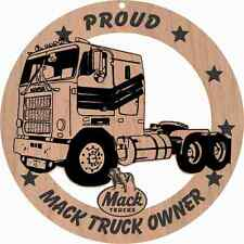 1970's Mack Cab Over Truck Wood Ornament Laser Engraved