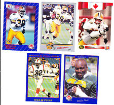 WILLIE PLESS CFL LOT OF 5 ESKIMOS U OF KANSAS