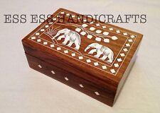 Handmade White Inlaid Jewellry Box