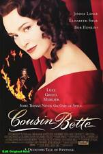 "MOVIE POSTER~Cousin Bette 1998 27x40"" Original Film Sheet Elisabeth Shue New~1"