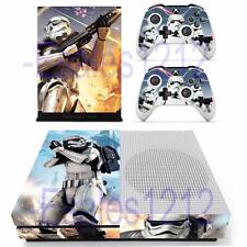 Xbox One S Slim Console Skin Star Wars Storm Trooper Decals Stickers Controllers