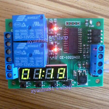 DC12V 2CH Multi-function Delay Time Cycle Timer Relay Module Timing Switch board