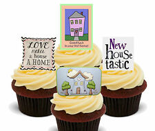First Home / New House Edible Cupcake Toppers, Stand-up Fairy Cake Decorations