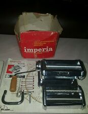 Imperia Noodle Maker Pasta Roller Machine Hand Crank Made in Italy SP150 VTG
