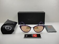 RAY-BAN TECH LIGHT-RAY WOMEN SUNGLASSES RB4250 60342Y VIOLET/COPPER LENS 52MM