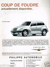 Publicité advertising 2001 Chrysler PT Cruiser Limited