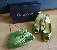 Phase eight rosanna knot kiwi vert bout ouvert chaussures taille 5 & sac assorti/sac à main
