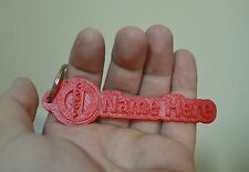 Volvo Rubber Keyring Tags Novelty Keychain 3D Name Key Fob Personalised car