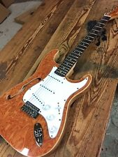 CUSTOM COZART SEMI HOLLOW BODY STRAT ELECTRIC GUITAR BIRDS EYE MAPLE