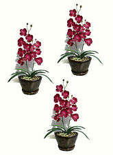 """3 x Butterfly Orchids -  23"""" (58cm) - Artificial Real Touch Flowers, Faux Plants"""